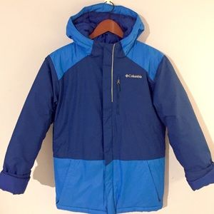 Columbia Blue Ski Winter Heavy Coat Jacket Youth